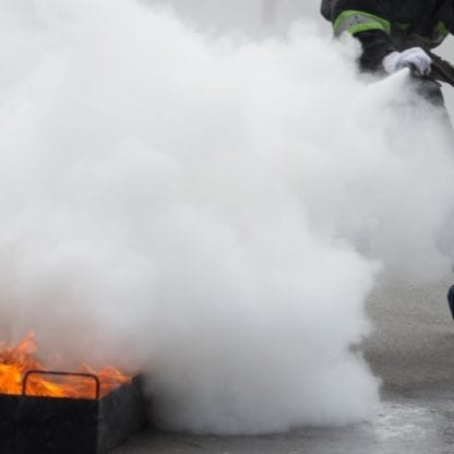 Fire safety with smoke